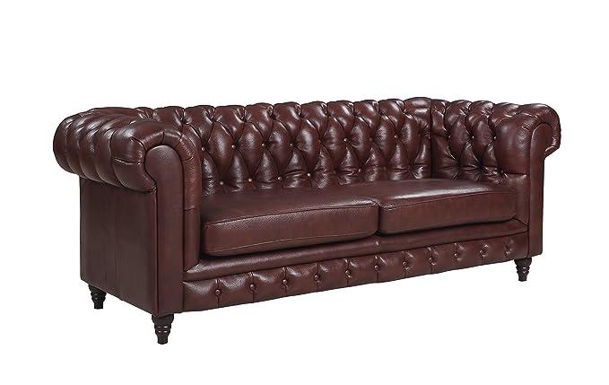 Amazon.com: Classic Scroll brazo Real sofá Chesterfield de ...