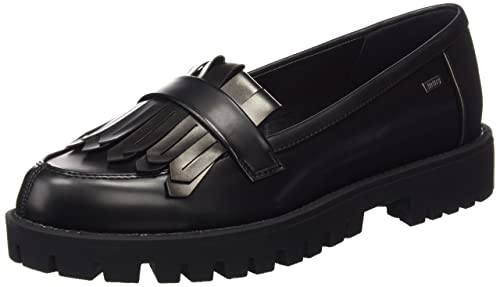 MTNG Collection 53990 - Mocasines para mujer, color Negro (Maxi Negro/Plata), talla 36 EU: Amazon.es: Zapatos y complementos