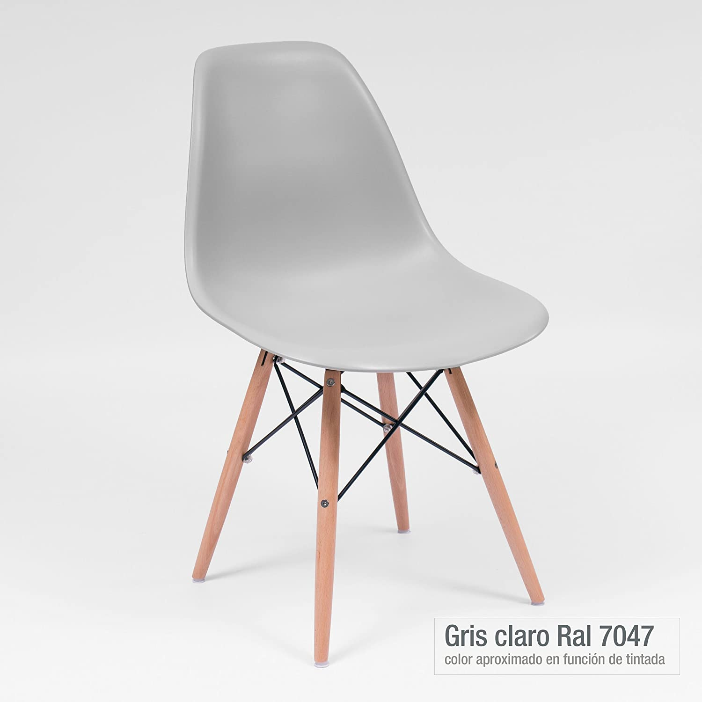 Homely - Juego de 4 Sillas de Comedor o Cocina MAX de diseño nórdico-Scandi, Inspiración Silla Tower (Gris Claro 05)