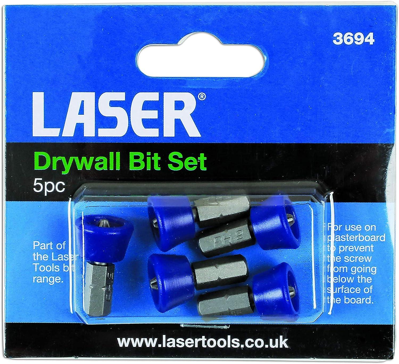 Laser 3694 5 Piece Drywall Bit Set