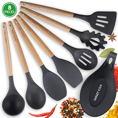 Kitchen Utensil Set   Silicone Cooking Utensils   Kitchen Accessories    Housewarming Gifts   Cooking Tools