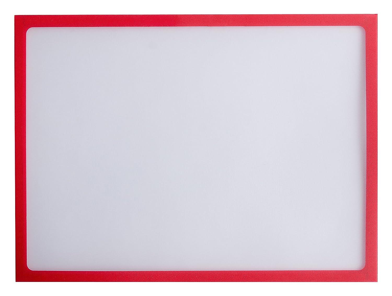 Informationsrahmen Magnetrahmen A3 Format magnetischer Rahmen Beschriftungsschild T/ürschild auswechselbar Karteo/® Magneth/ülle rot
