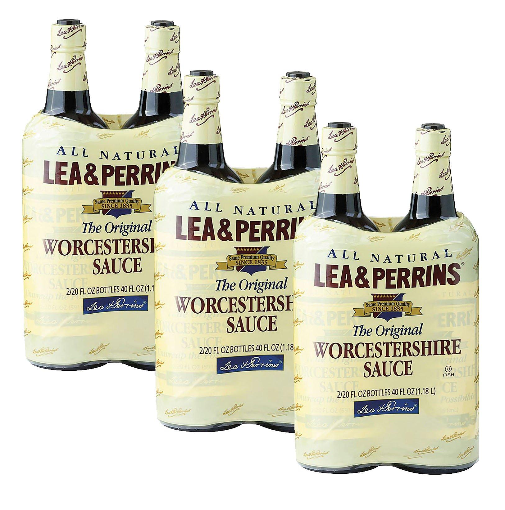 Lea & Perrins Worcestershire Sauce-20 oz, 2 ct (Pack of 3) by Lea & Perrins