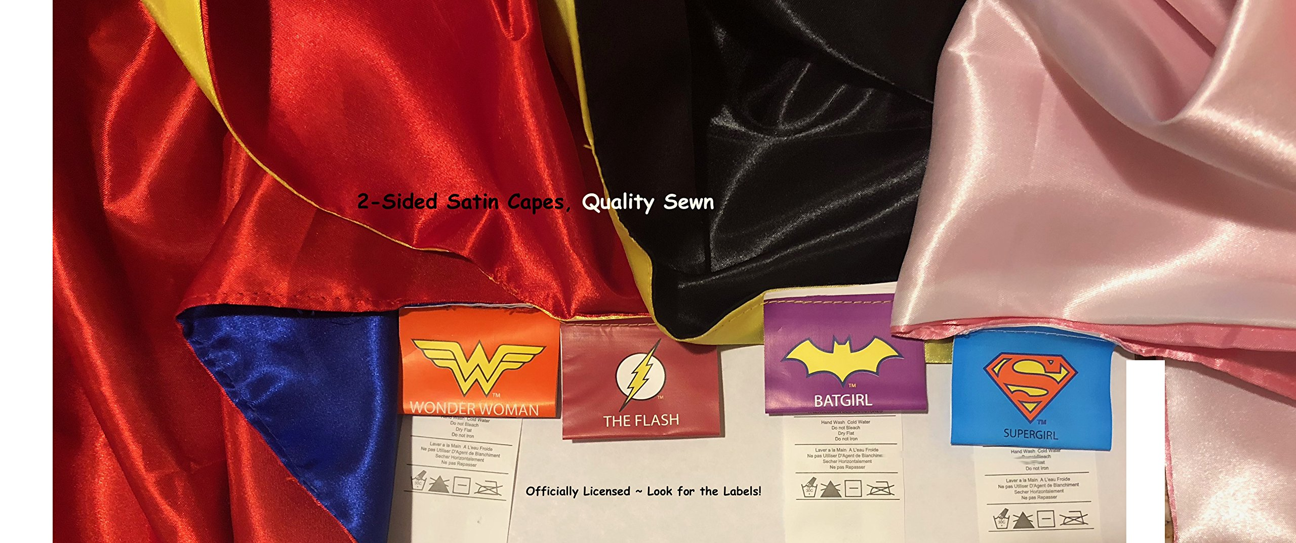 Rubie's Super Hero Cape Set Officially licensed DC Comics Assortment  4 Capes, 2 Masks, and 2 Headbands, One Size (Amazon Exclusive) by Rubie's (Image #7)