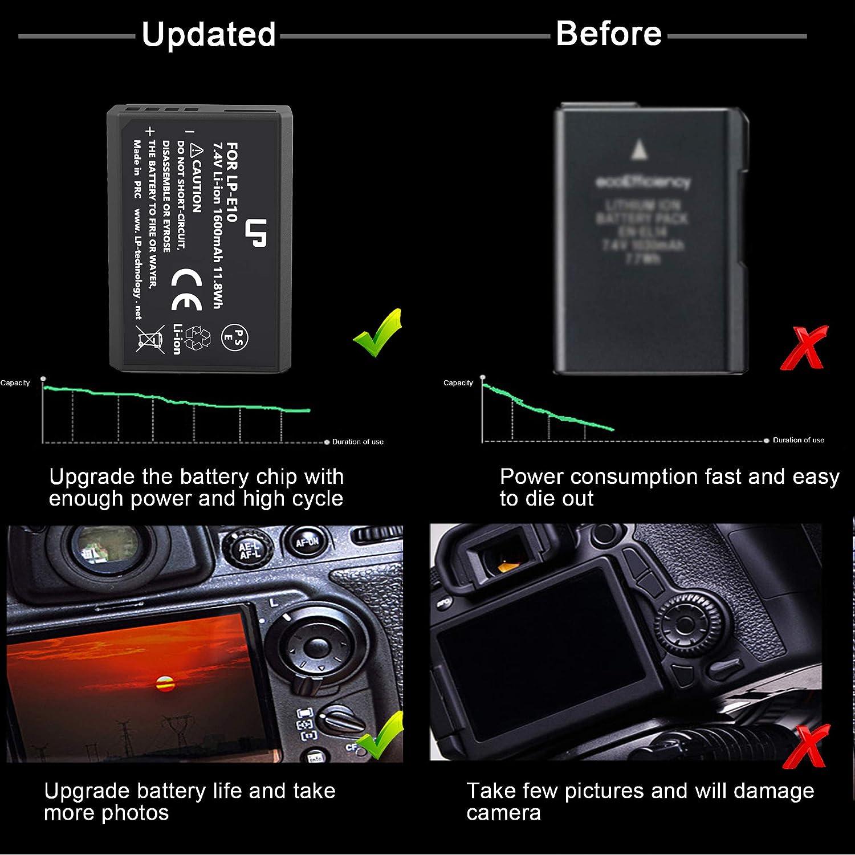 Batteries & Chargers Electronics 1300D 1200D 1500D T5 Compatible ...