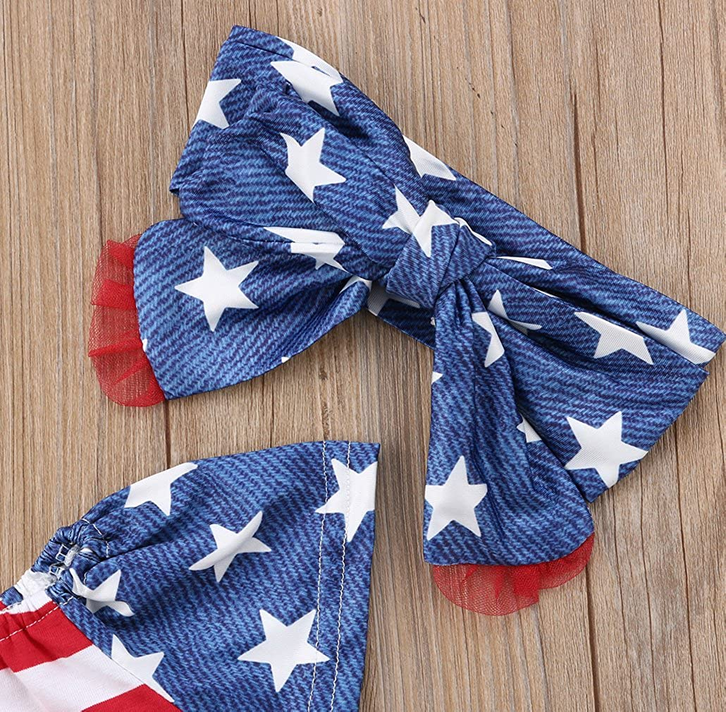 Headbands Shorts Pants Specialcal 4th of July Newborn Baby Boys Girls American Flag Off Shoulder Tube Top