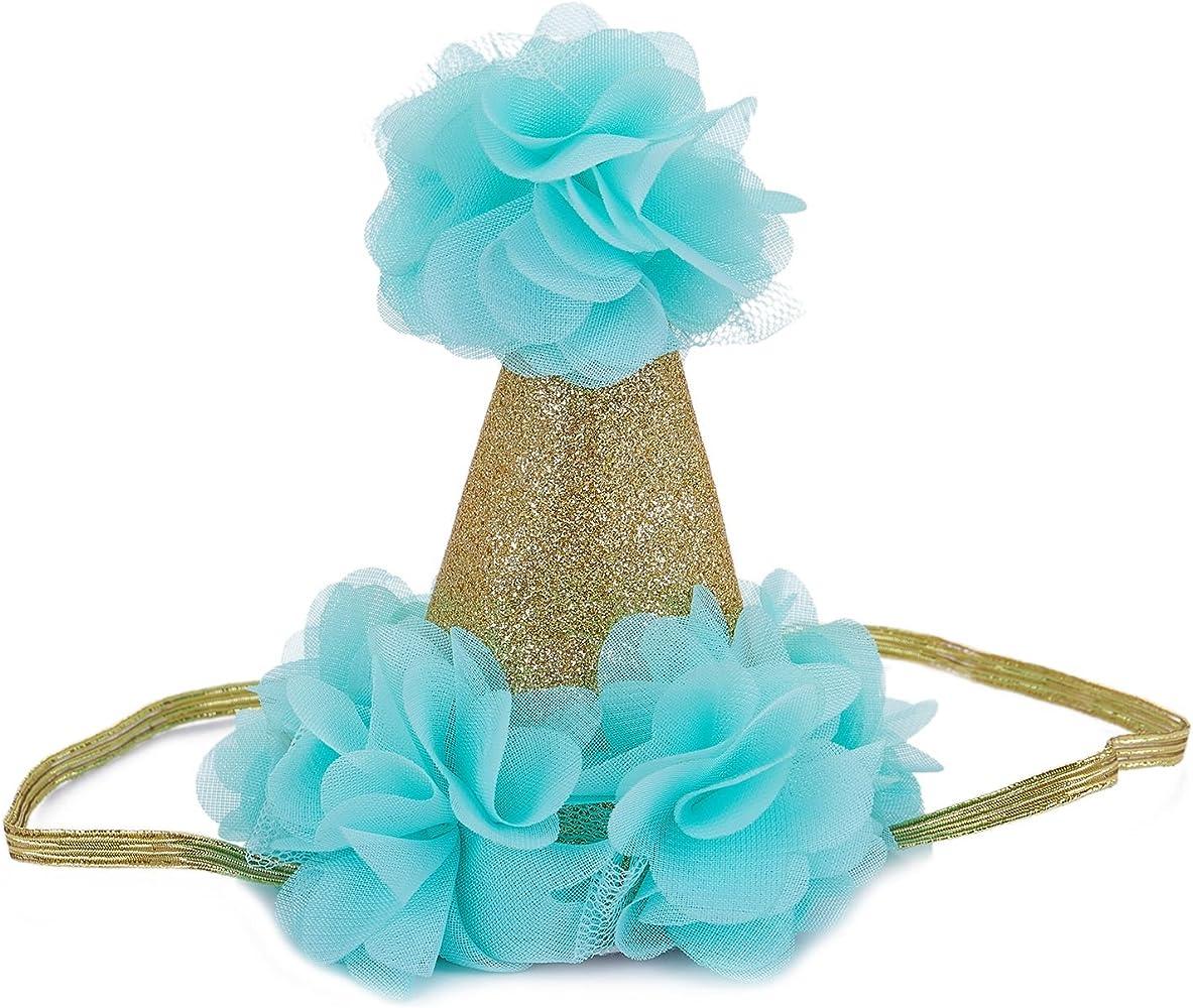 Cikuso Nino pequeno Bebe Nina Tejido floral Gorra de corona ...