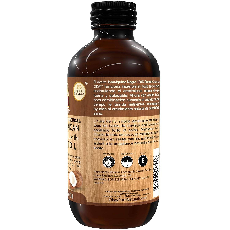 OKAY | Extra Dark 100% Natural Black Jamaican Castor Oil with Coconut Oil | For All Hair Textures & Skin Types | Grow Strong Healthy Hair - Moisturize ...