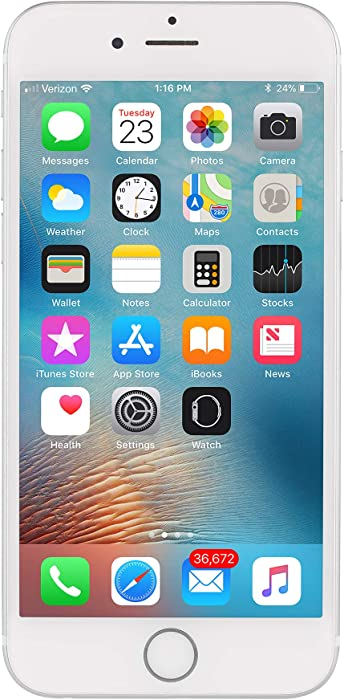 Apple iPhone 7, 128GB, Silver - Fully Unlocked (Renewed)