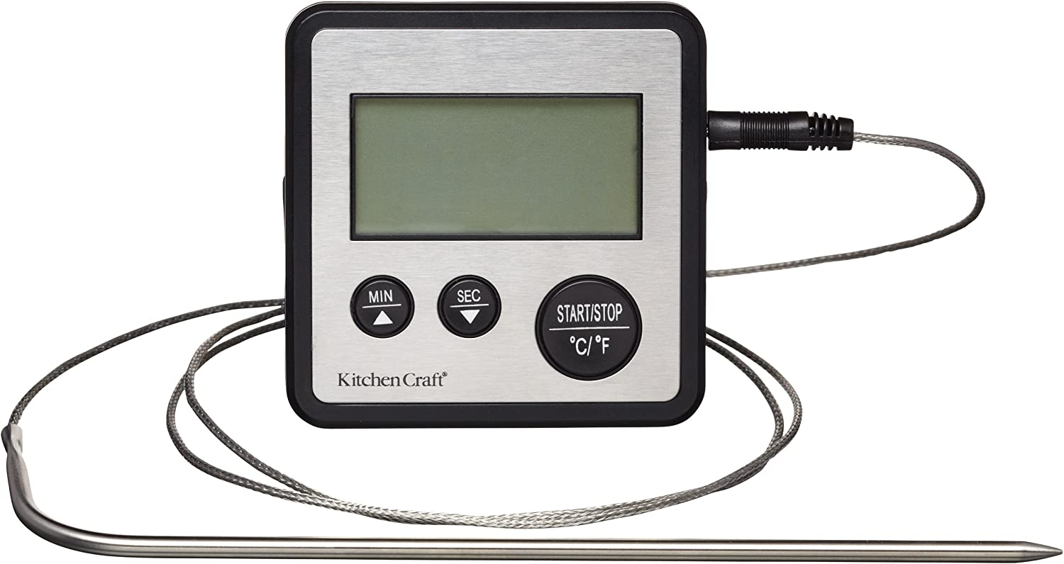 Kitchen Craft Digital LCD Display Cooking Catering Probe Thermometer & Timer KCDIGTHERM