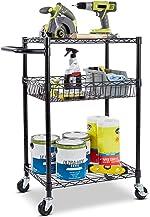 Seville Classics 3-Tier UltraDurable Commerical-Grade Heavy-Duty NSF-Certified Service Utility Storage Cart,