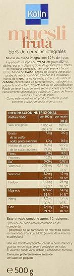 Kölln Muesli de fruta - 500 g: Amazon.es: Alimentación y bebidas
