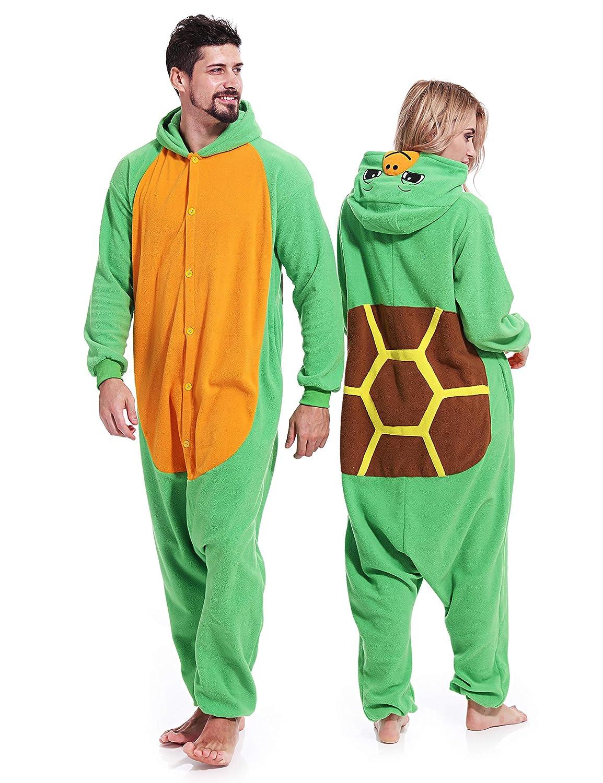 9ea13386c Amazon.com  Turtle Onesies Adult Pajamas Halloween Costume Animal ...
