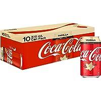 Coca-Cola Vanilla No Sugar Soft Drink Multipack Cans, 10 x 375 ml