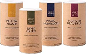 Your Super Immunity Superfood Bundle - Immune Boosting Bundle Includes: Super Green, Forever Beautiful, Mellow Yellow & Magic Mushroom, Essential Vitamins & Minerals, Non-GMO - 4 Pack, 30-40 Servings