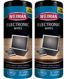 2x Electronic Cleaning Wipes 25 Count LCD Screen Monitor TV Laptops Tablets