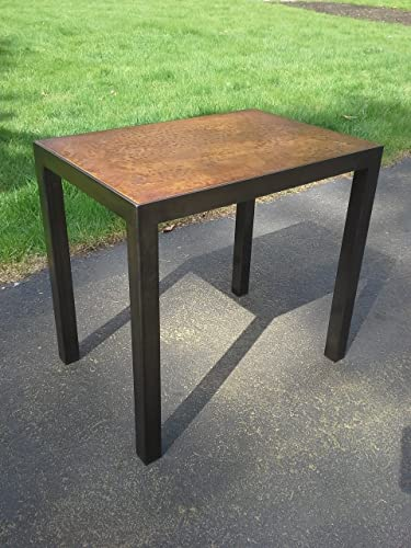 Amazoncom Metal Coffee Table With Stained Concrete Or Distressed - Stained concrete table