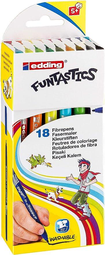 Funtastic circa 3 mm 14//18 18er Set edding 4-14-18 Fasermaler Filzstifte e-14