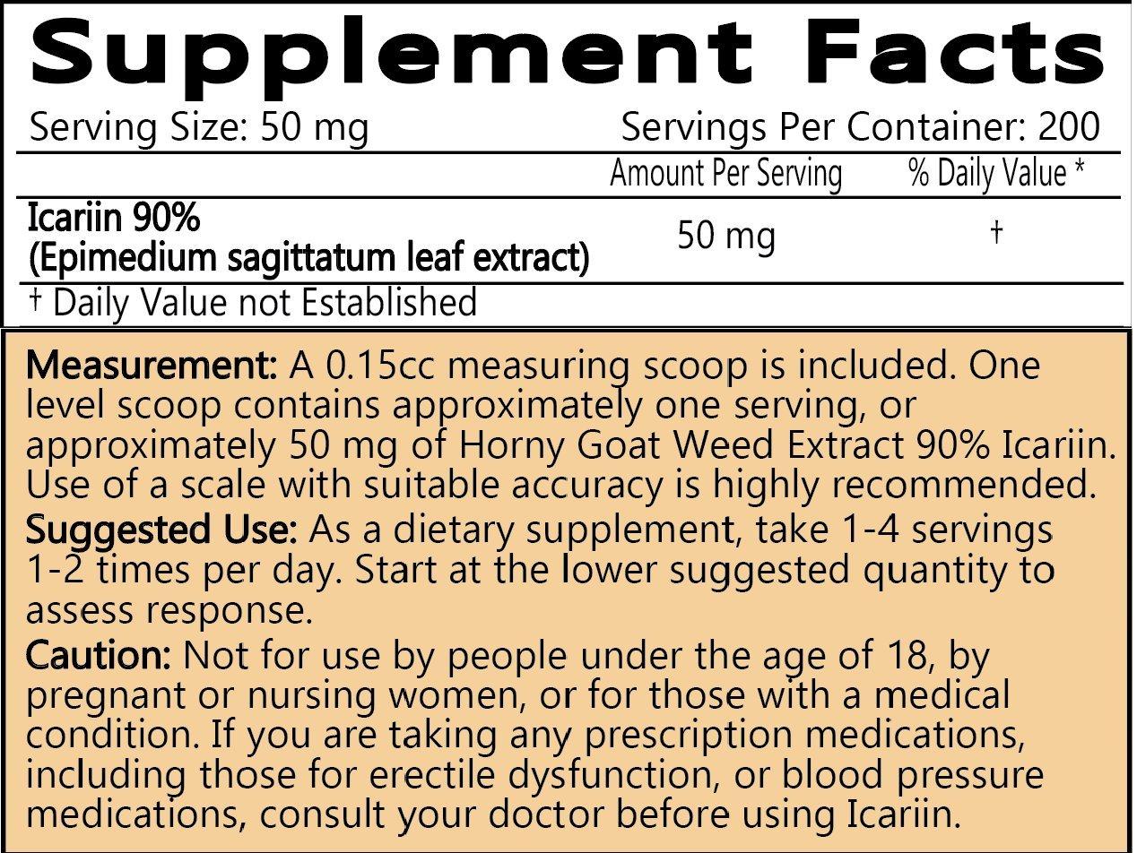 LiftMode Icariin Powder Supplement - Horny Goat Weed Extract Supplement Supports Energy, Libido & Stamina, Epimedium | Vegetarian, Vegan, Non-GMO, Gluten Free - 10 Grams (200 Servings) by LiftMode (Image #2)