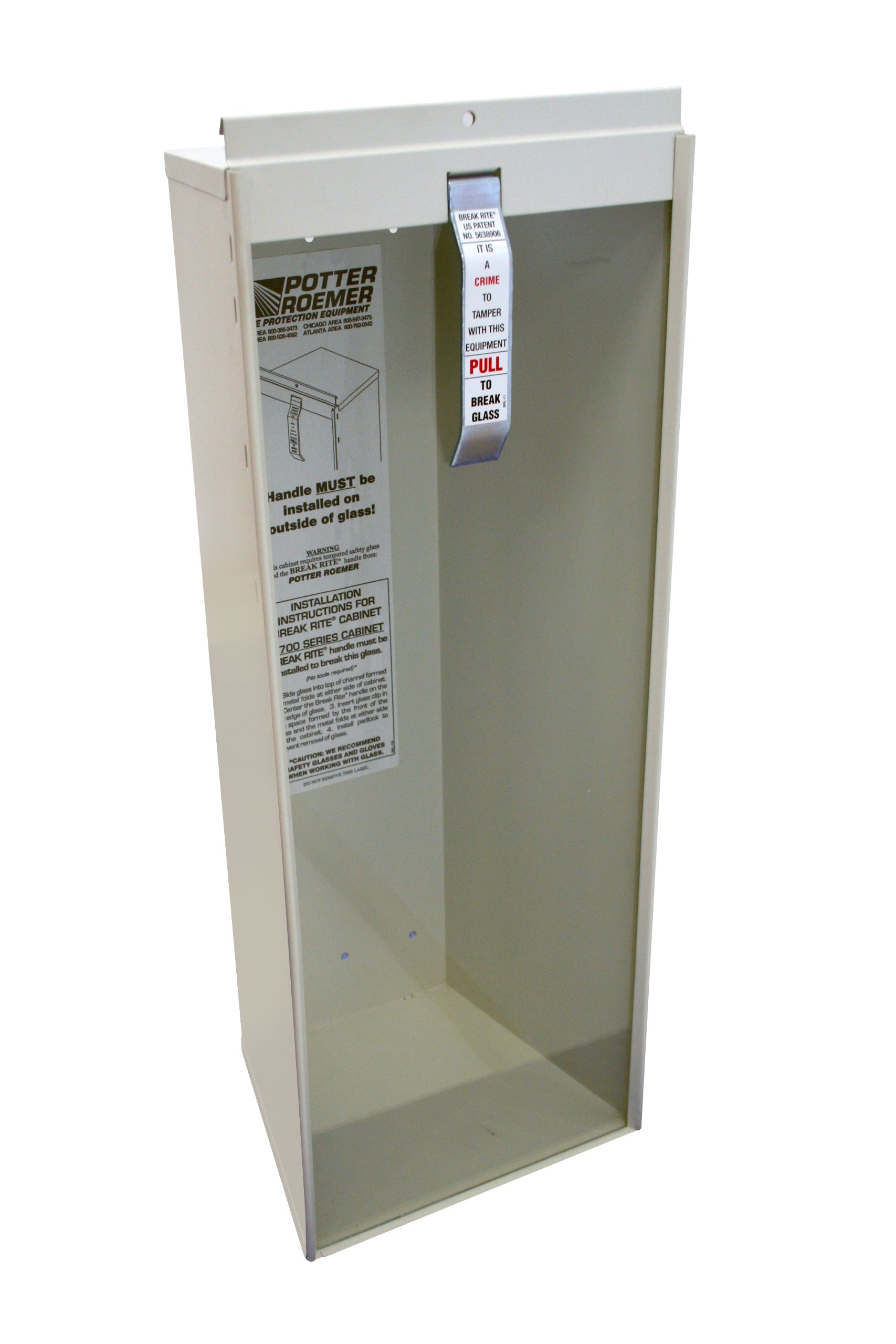 Kidde 468042 Potter Roemer Surface-Mount 10-Pound Fire Extinguisher Cabinet