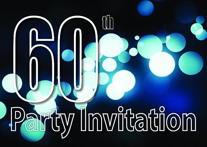 60 años Reversible Invitaciones de la fiesta de cumpleaños ...