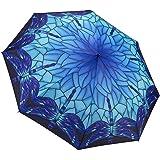 GALLERIA ENTERPRISES, INC. 设计时尚迷彩叶印花定制自动折叠太阳雨防紫外线雨伞