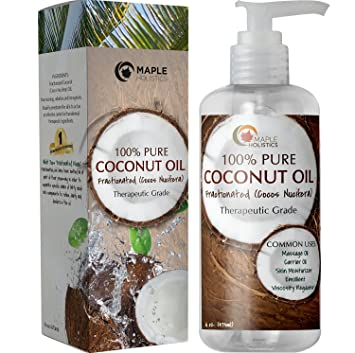 Fractionated Coconut Oil - 100% Pure therapeutic grade Grade - Rich in  Fatty Acids & Great Carrier