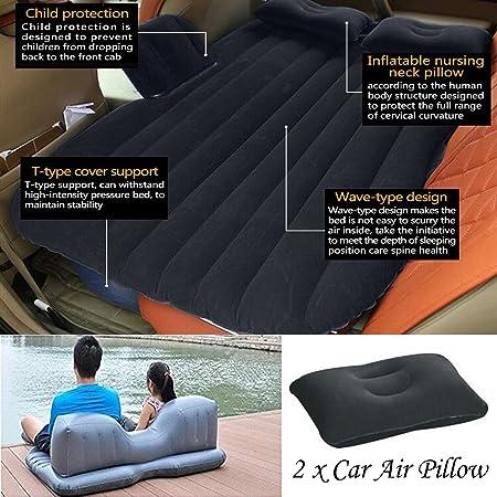 Viaje en Coche cama inflable Camping AUTO AIR Literie Colchón ...