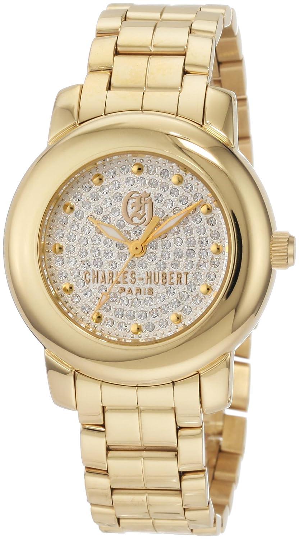 Damen Charles - Hubert Swarovski Crystal Dial Armbanduhr GLD-PLATED