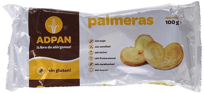 Adpan Palmeras - 4 Paquetes de 100 gr - Total: 400 gr - sin gluten