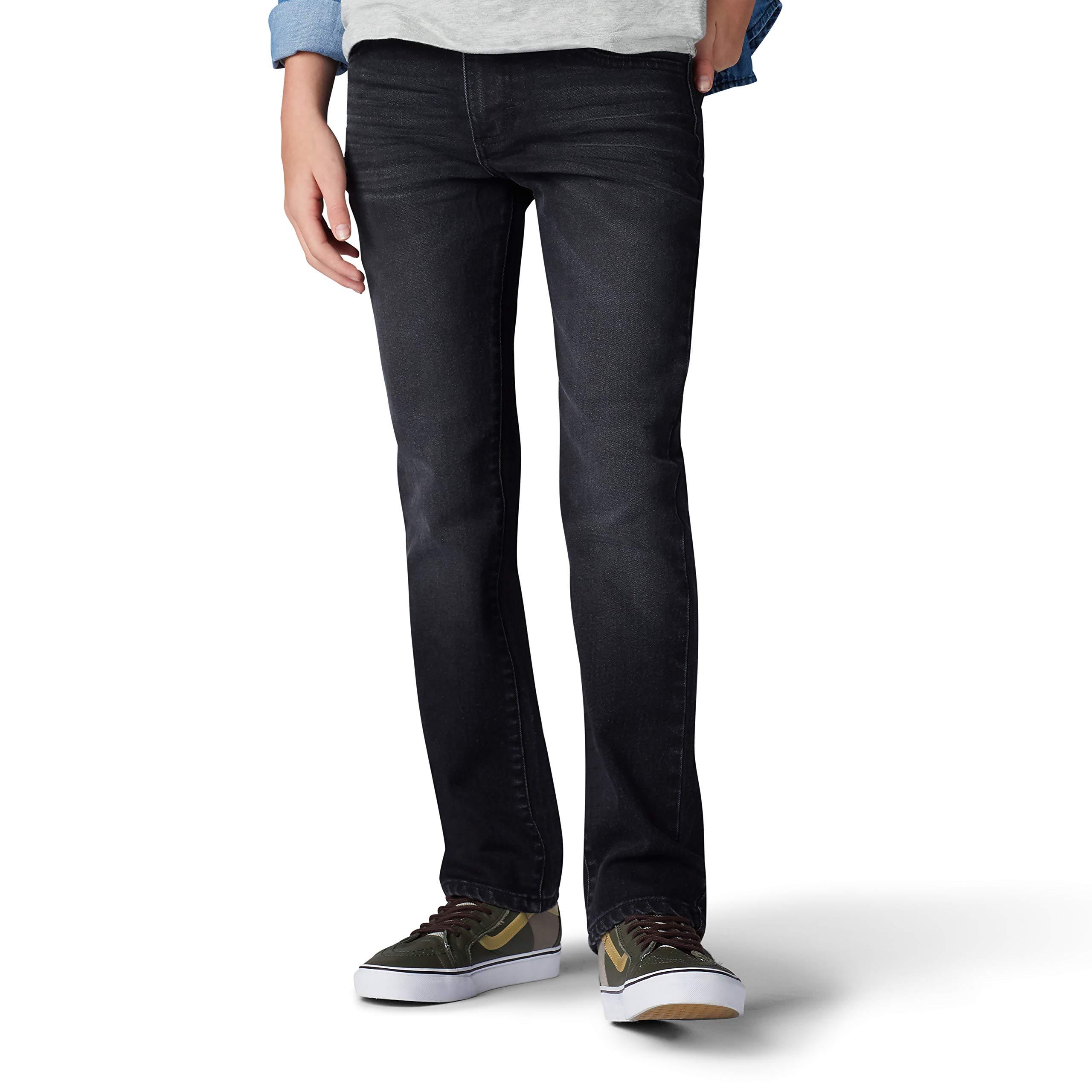 LEE Boys' Big Performance Series Extreme Comfort Slim Fit Jean, Black Nights, 18 by LEE
