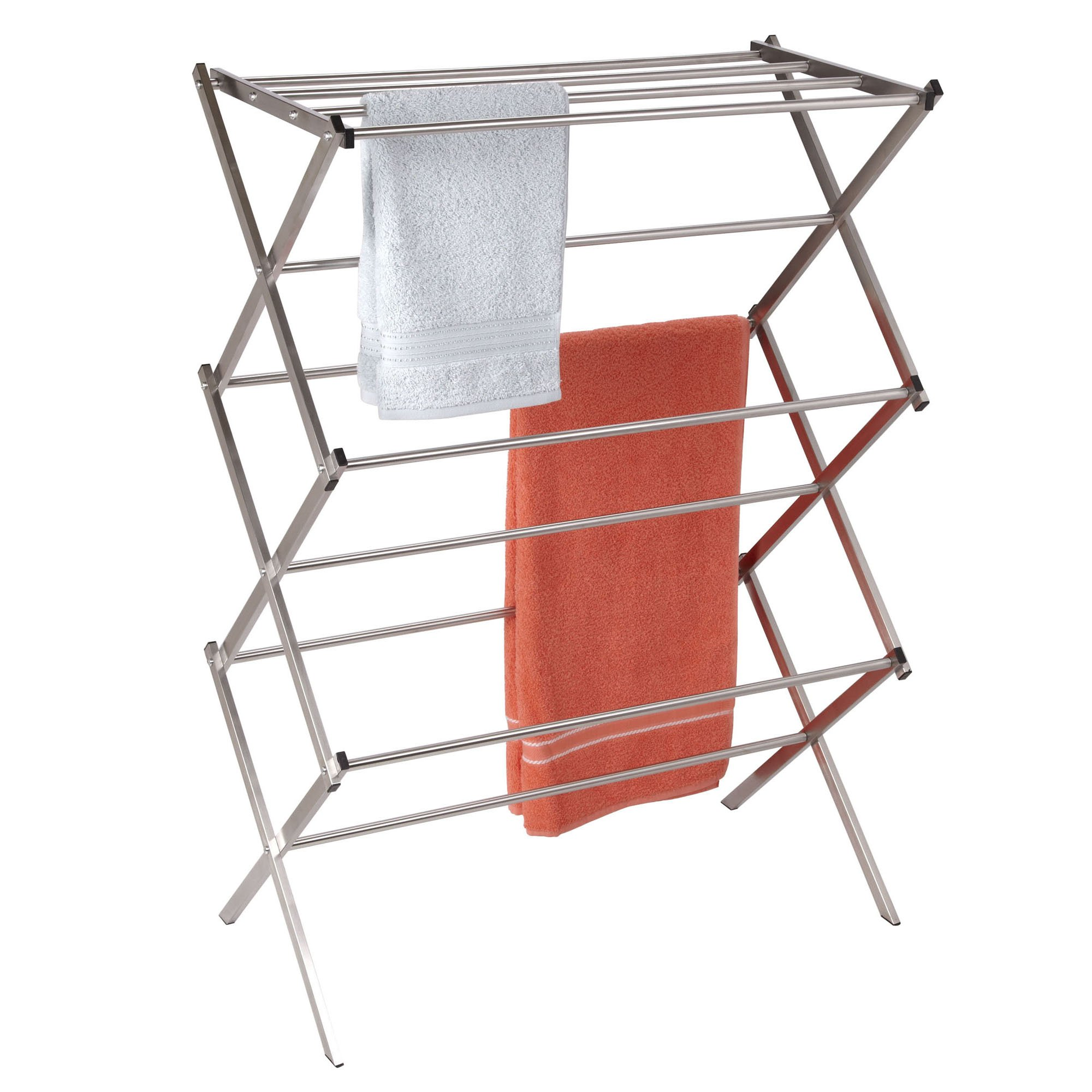 Household Essentials Folding X-Frame Clothes Dryer, Stainless Steel by Household Essentials (Image #2)