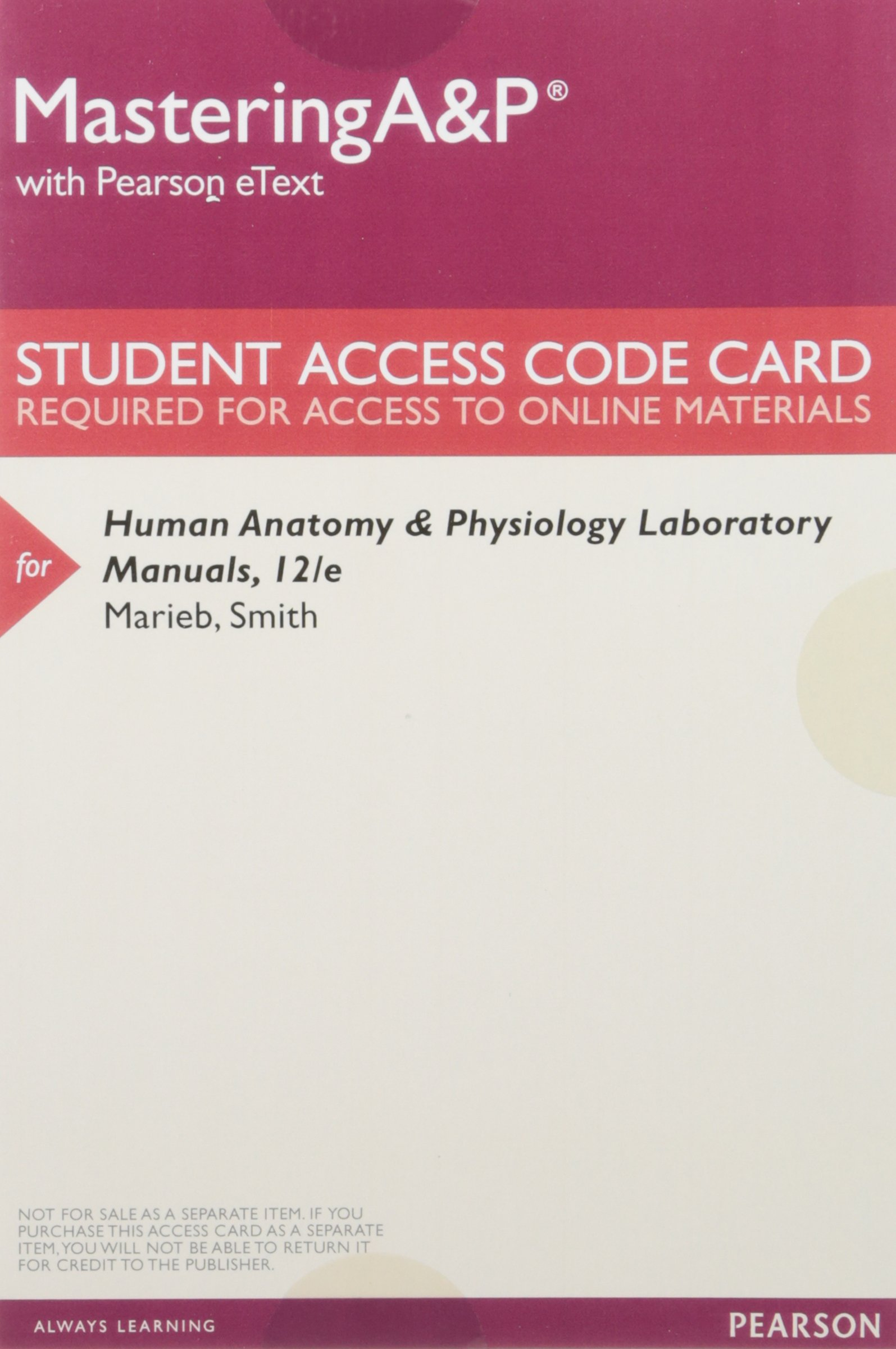 Human Anatomy & Physiology Laboratory Manual, Fetal Pig Version; Mastering  A&p with Pearson Etext -- Valuepack Access Card -- For Human Anatomy &  Physiology ...