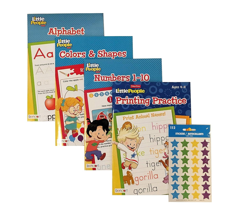 4871be9b4b Amazon.com: Little People Educational Workbook Set Includes 4 Early ...