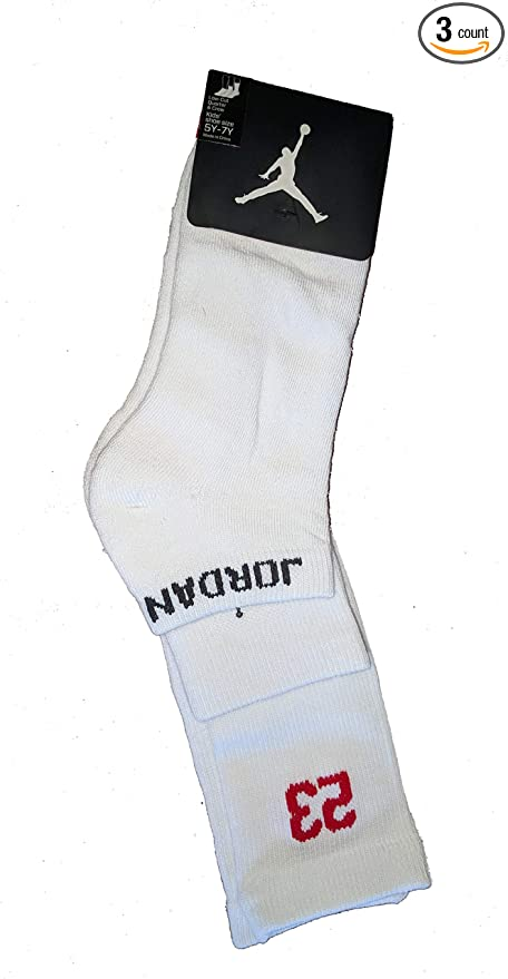 dfe5d85c1f72f5 Image Unavailable. Image not available for. Color  Nike Air Jordan 3 Pack  Athletic Low Cut Ankle Crew Socks ...
