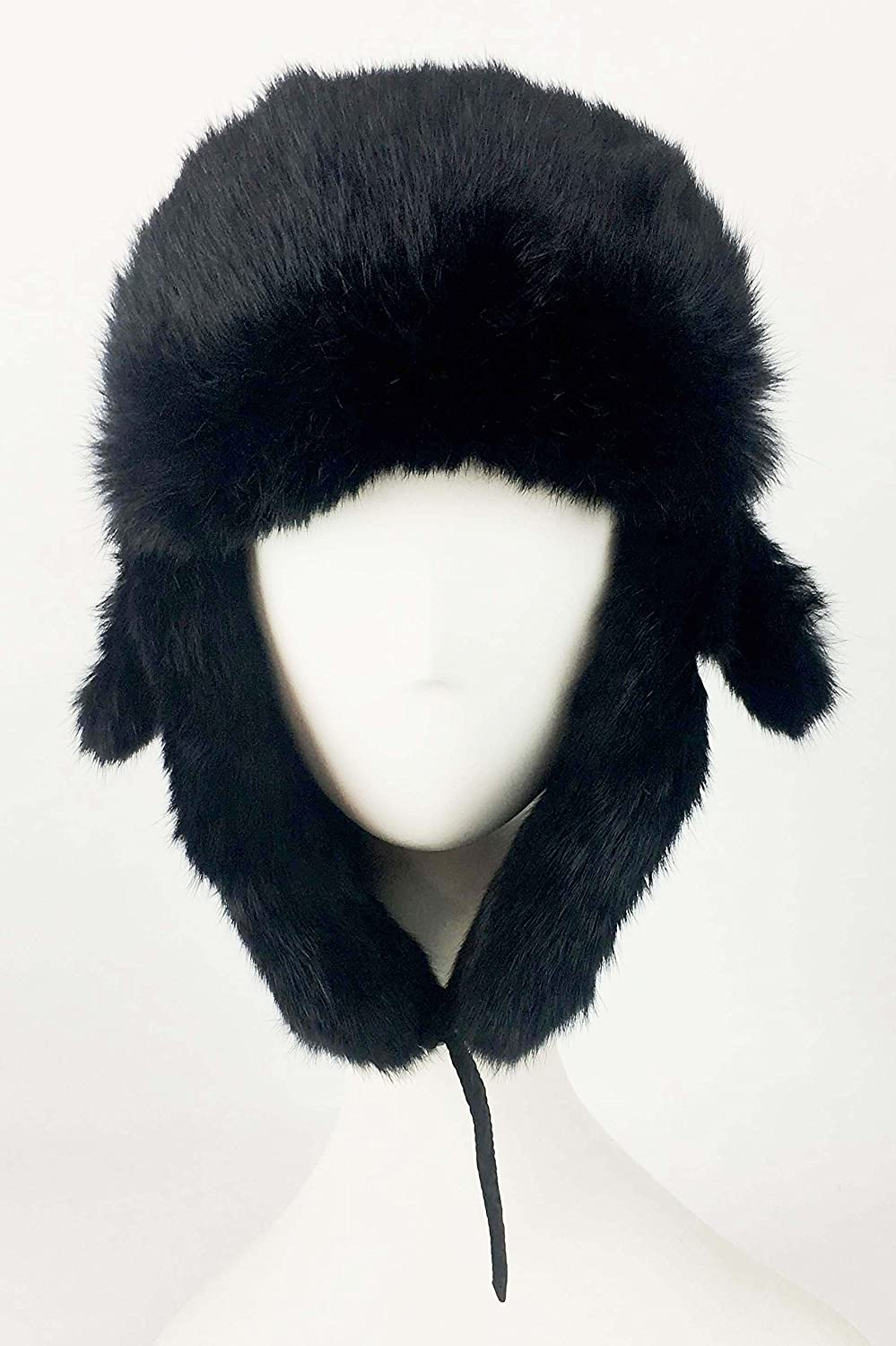 Warm Bomber Trooper Hat surell Trapper Fur Aviator Hat with Rabbit Fur Trim