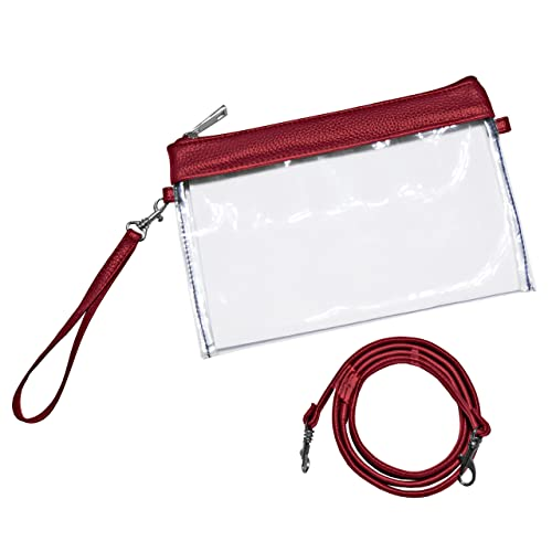 9adc76689be2 Clear Stadium Pouch Purse - Stadium Approved Wristlet, Crossbody or  Shoulder Bag