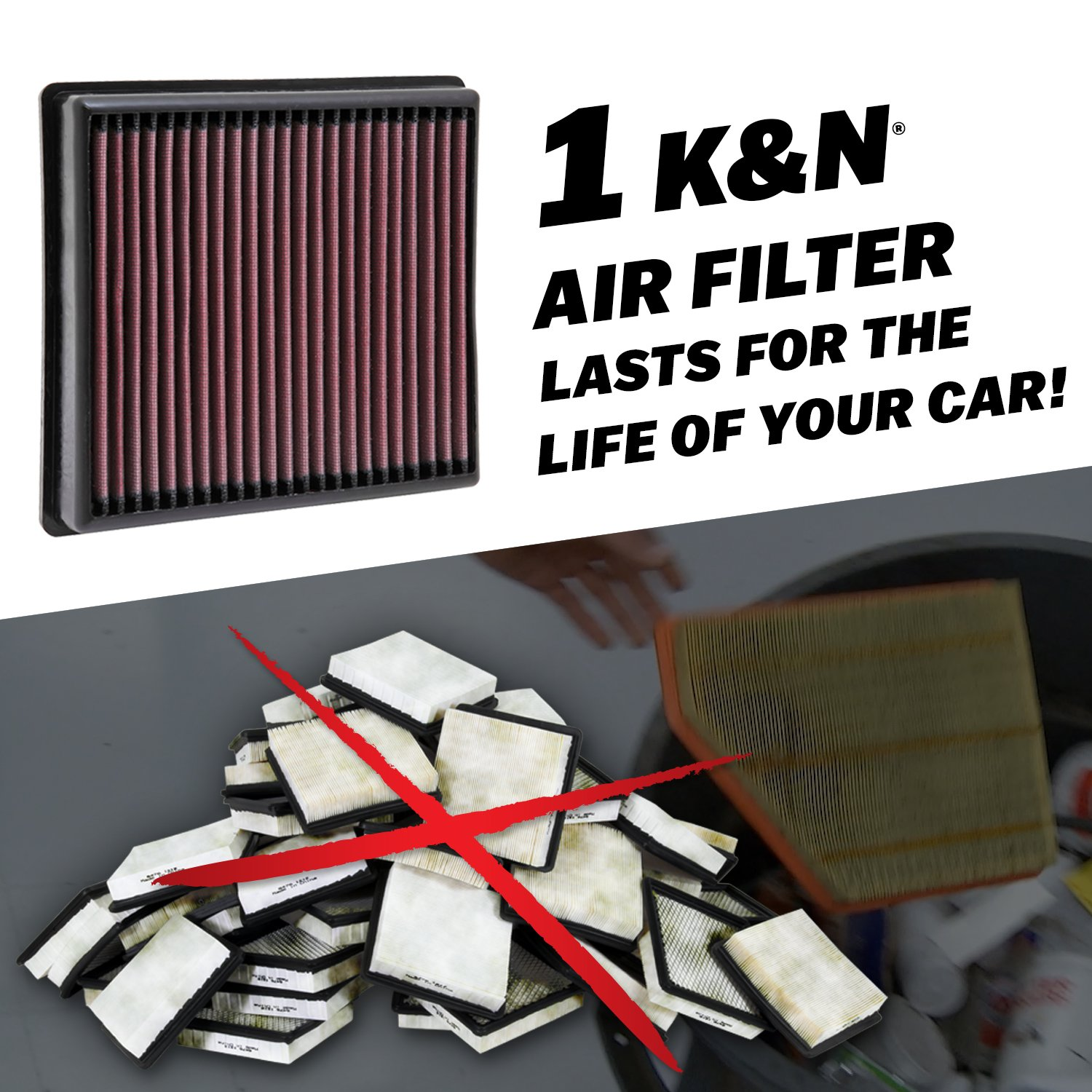 K/&N KA-5090 Kawasaki High Performance Replacement Air Filter K/&N Engineering