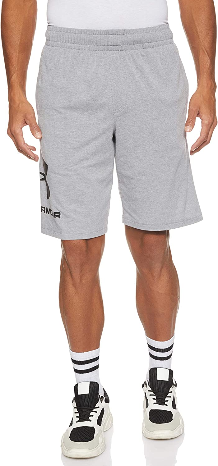 Workout Shorts with Ultralight Design Under Armour Mens Sportstyle Cotton Logo Shorts Running Shorts Made of Breathable Material