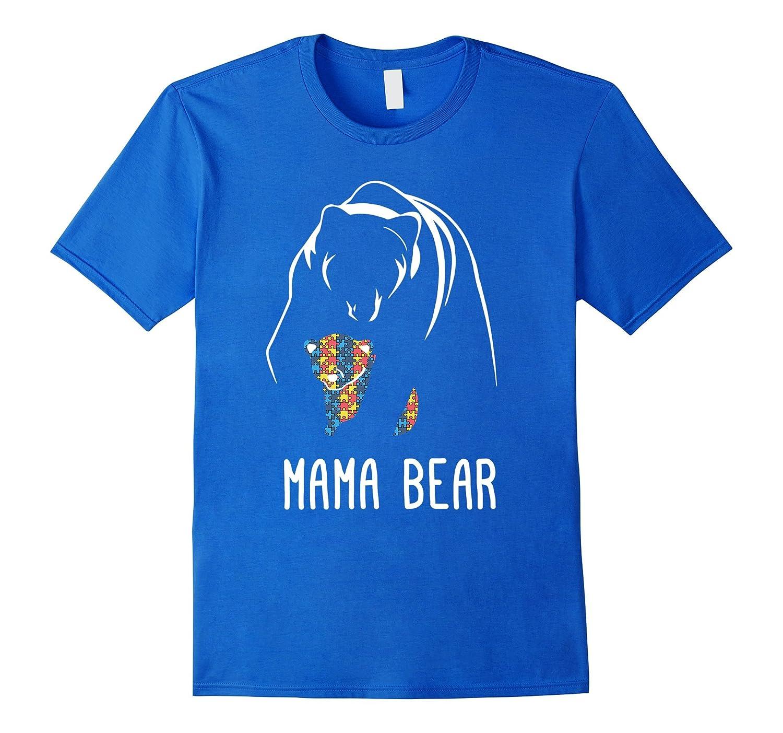 Autism Awareness - Mama Bear Autism White Shirt-CD