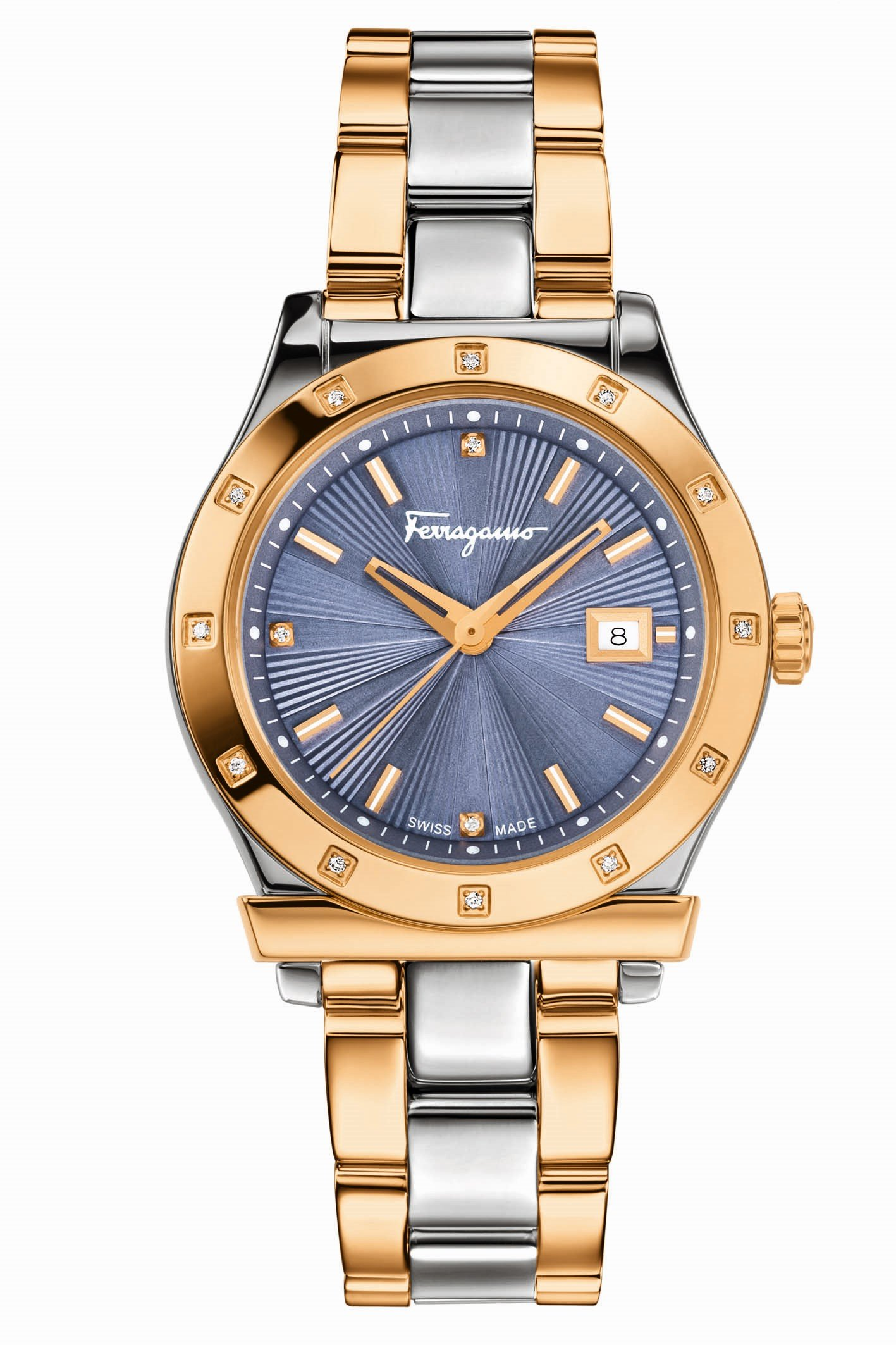 Salvatore Ferragamo Women's FF3260015 FERRAGAMO 1898 Analog Display Quartz Two Tone Watch