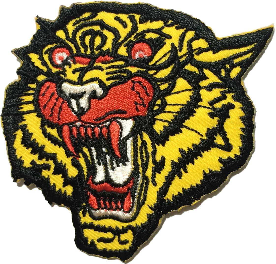 papapatch cabeza de tigre de coser hierro en bordados parche (iron ...