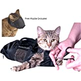 Downtown Pet Supply Cat Grooming Bag - Cat Restraint Bag, Cat Grooming Accessory + FREE Cat Muzzle