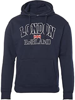 Zone One London England – Sudadera con Capucha Bordada