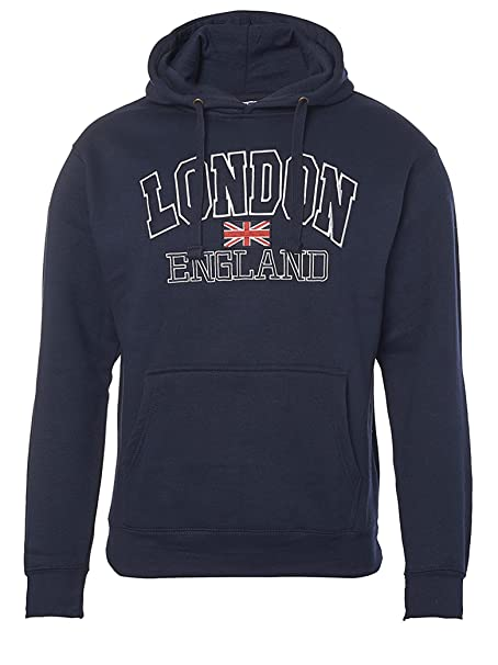Zone One London England - Sudadera con Capucha Bordada: Amazon.es: Ropa y accesorios