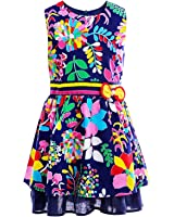Little Girls Floral Dress, Sleeveless Cotton Country Flower Dress, Summer Casual Dress for Toddler and Girls