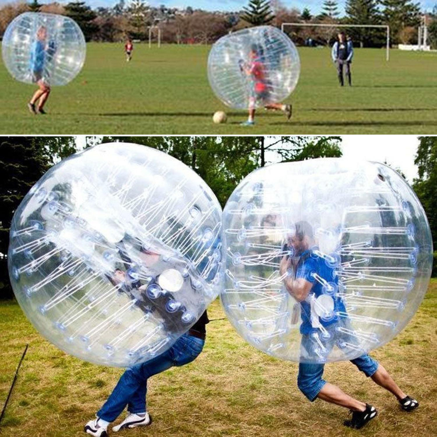 1.5m PVC Super Big Giant Large Transparent Pump Bubble Soccer Ball Balls as Chair Toy for Game to Men Women Kids [ARRIVE in 3-7 DAYS] by Ferty