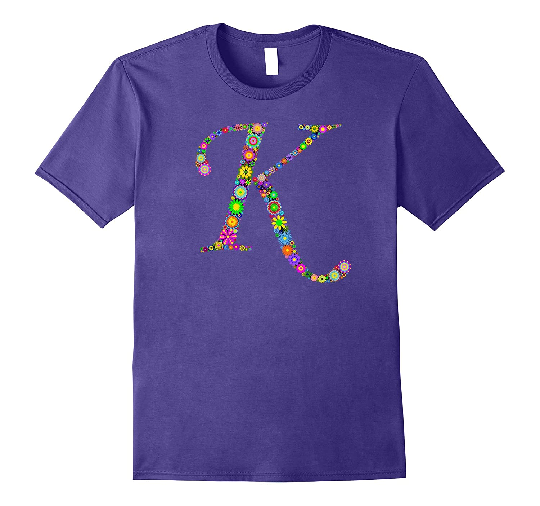 K Initial Fun T shirt For Gals-Vaci