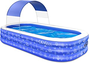 Inflatable Swimming Pool for Kids and Adults, 120
