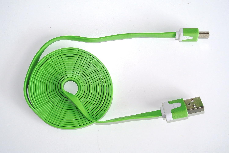 Kingdiscount® USB-Kabel flach Grün - farbiges: Amazon.de: Elektronik